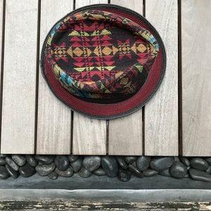 GRACE HATS Multicolor Aztec Print Fedora Hat